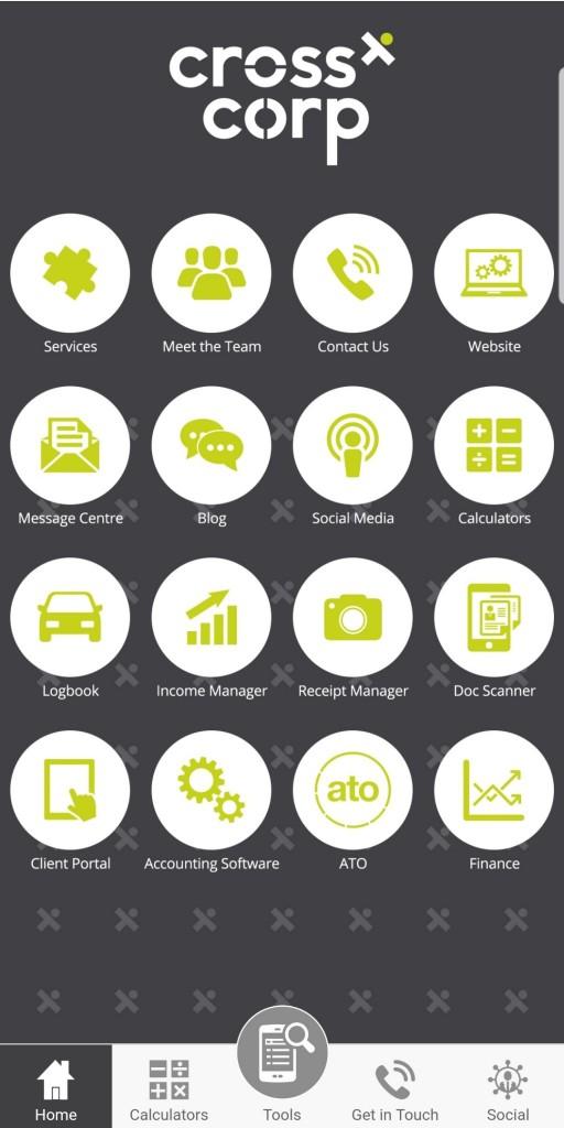 Crosscorp App Landing Page