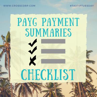 Checklist PAYG Payment Summaries