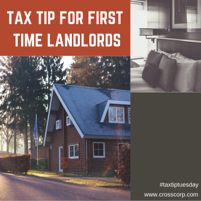 Tax Tip for first time landlords