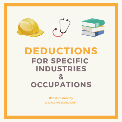 Deductions for specific industries & occupations