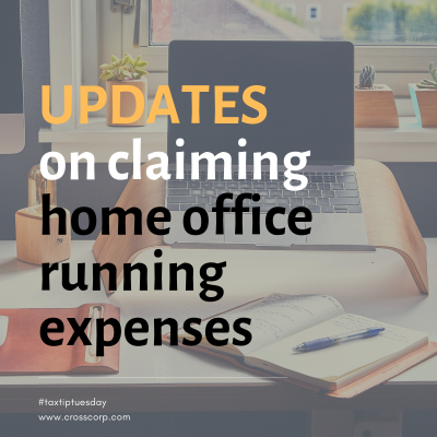 Updates on Claiming Home Office Running Expenses