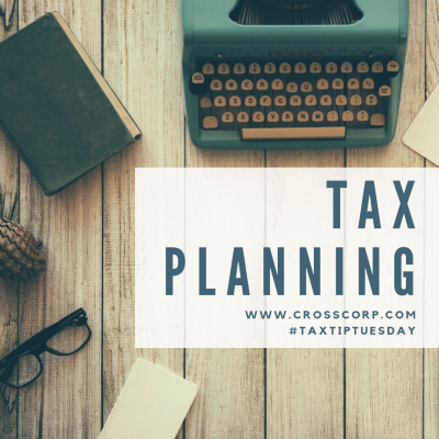 Tax Planning Time!