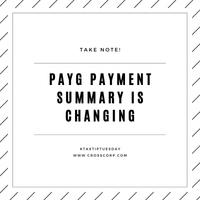 PAYG Payment Summary is Changing