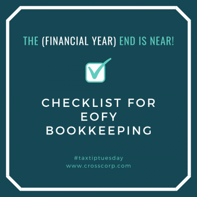 Checklist for EOFY Bookkeeping