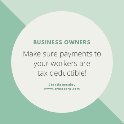 Did you know that certain non-compliant payments made to workers are no longer tax deductible starting 1 July 2019?