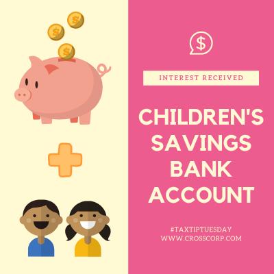 Children's Savings Bank Account