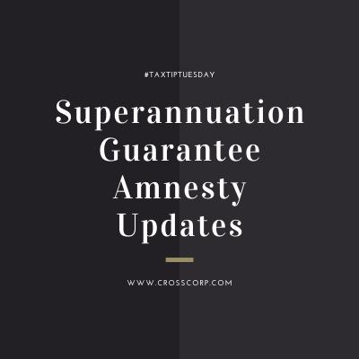Superannuation Amnesty Updates